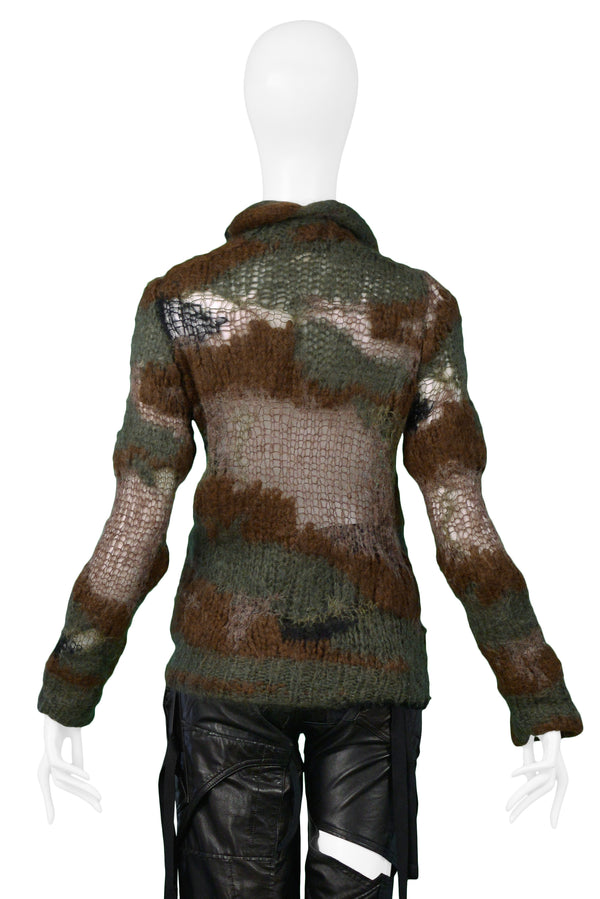 JUNYA KNIT CAMO COBWEB SWEATER 2006