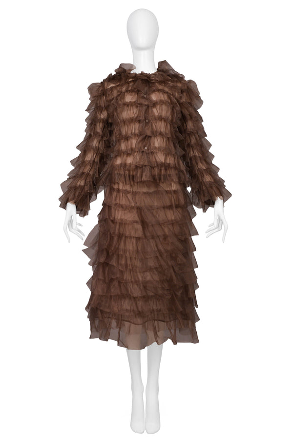 JUNYA COPPER RUFFLE SKIRT SUIT 2000