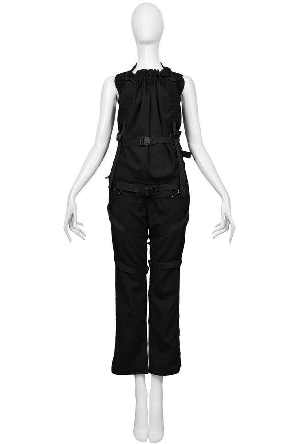 JUNYA BLACK PARACHUTE TOP & PANT 2003