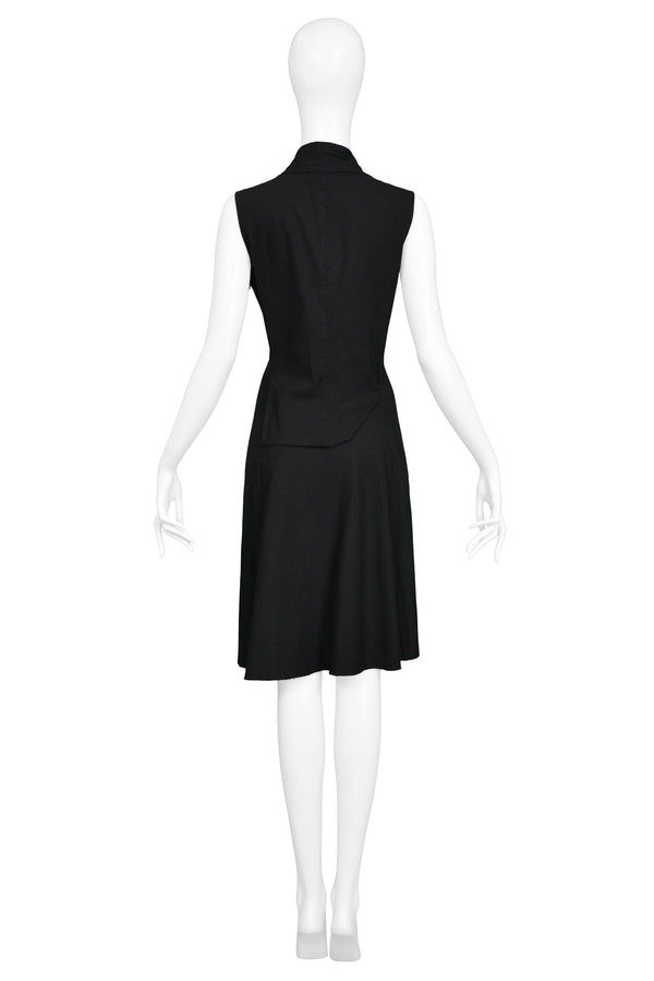 JUNYA BLACK ZIPPER COLLAR DRESS 2005