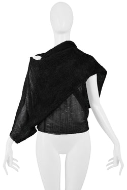 HELMUT LANG 1989 BLACK PLISSE TOP