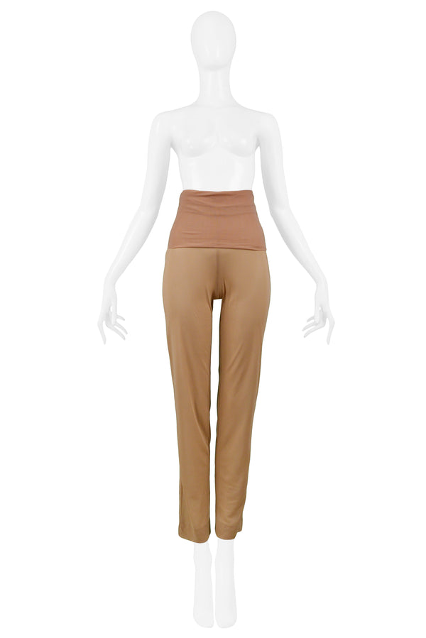 HELMUT LANG DOUBLE MESH HIGH WAIST PANTS