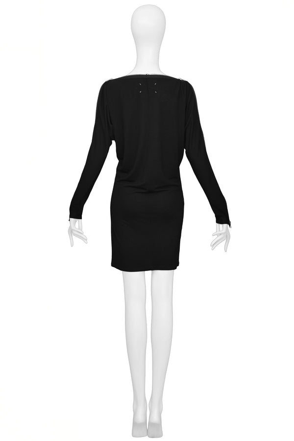 MARGIELA BLACK ZIPPER DRESS
