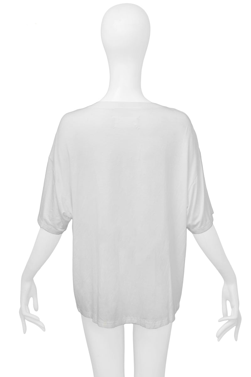 MARGIELA WHITE CORD T-SHIRT
