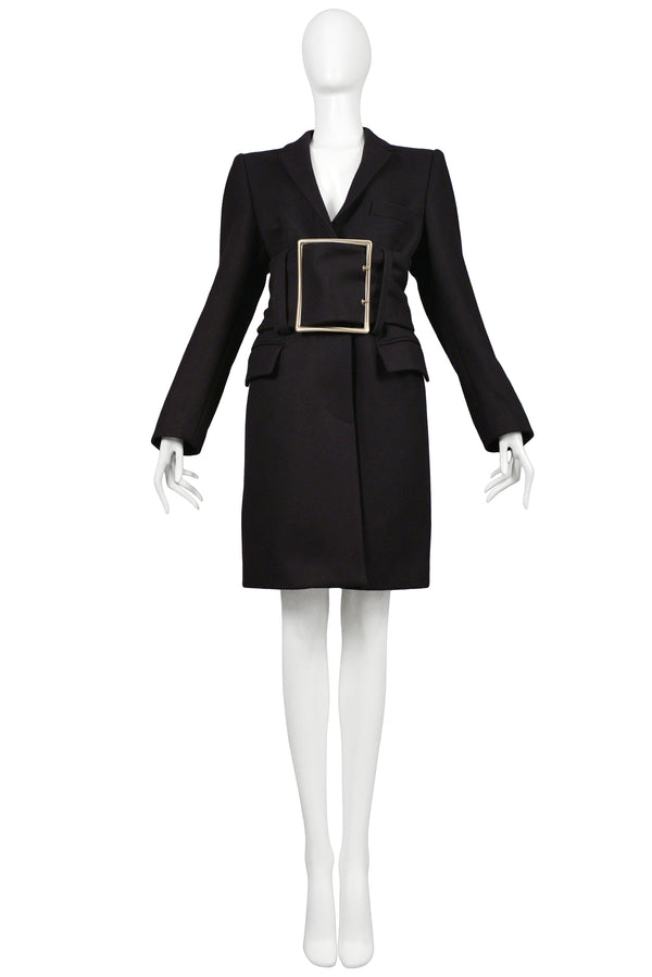 MARGIELA RUNWAY BUCKLE COAT 1996