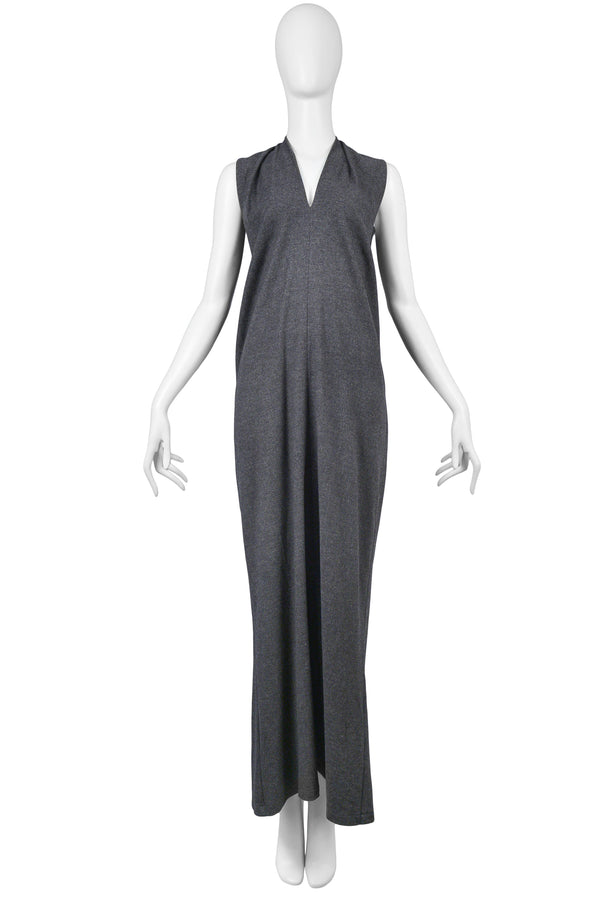 MARGIELA FLAT COLLECTION GREY MAXI DRESS 1998