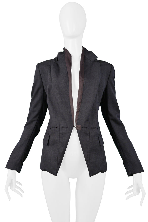 MARGIELA GREY PILLOWCASE LAPEL BLAZER 2003