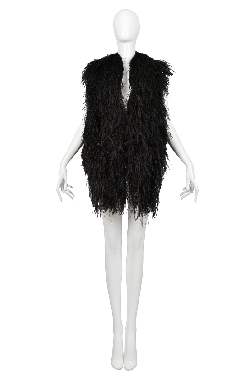 MARGIELA BLACK FEATHER VEST 1997