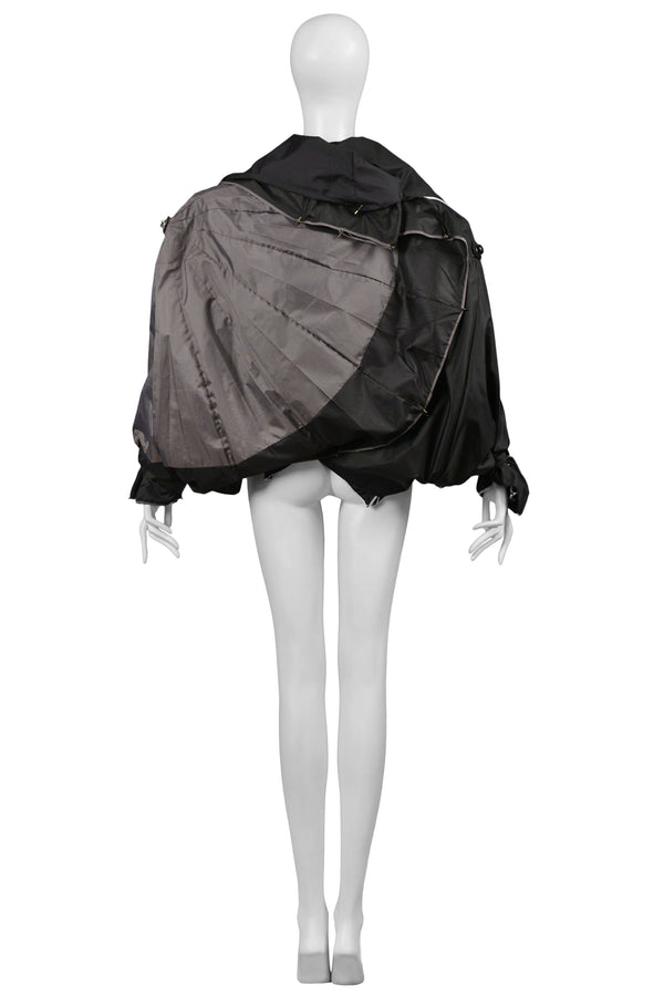 MARGIELA ARTISANAL BLACK & GREY UMBRELLA JACKET 2008