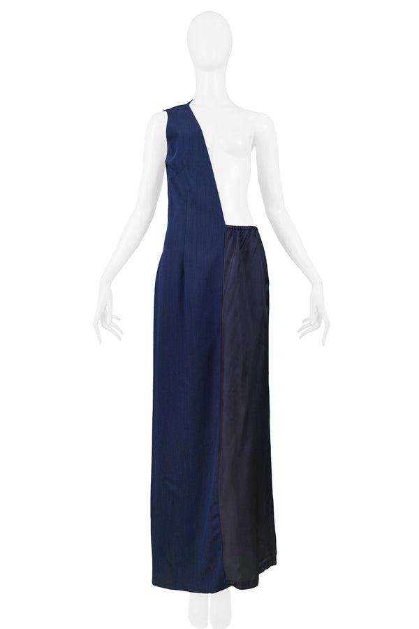 MARGIELA BLUE ASYMMETRICAL AVANT GARDE DRESS