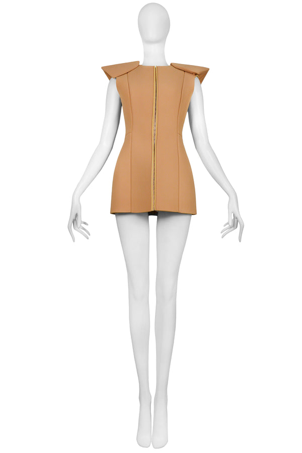 MARGIELA ARTISANAL NEOPRENE DRESS FORM TOP