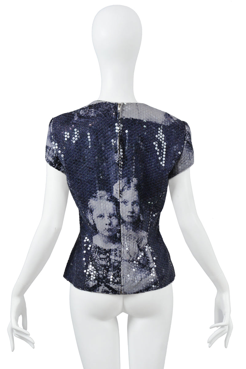 ALEXANDER MCQUEEN RARE ROMANOV CHILDREN SEQUIN TOP 1998