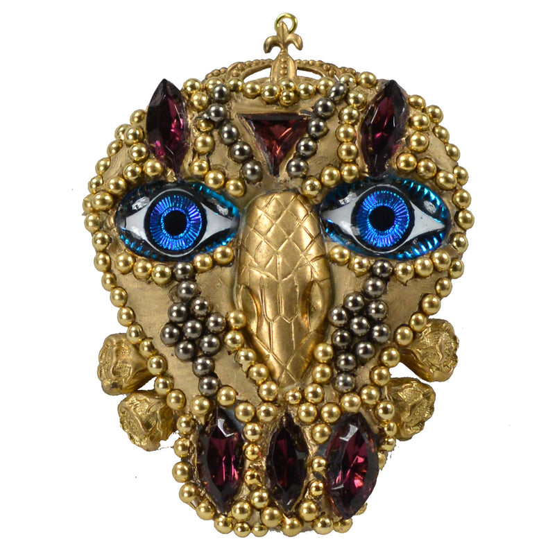 MINADEO BLUE EYE SKULL BROOCH