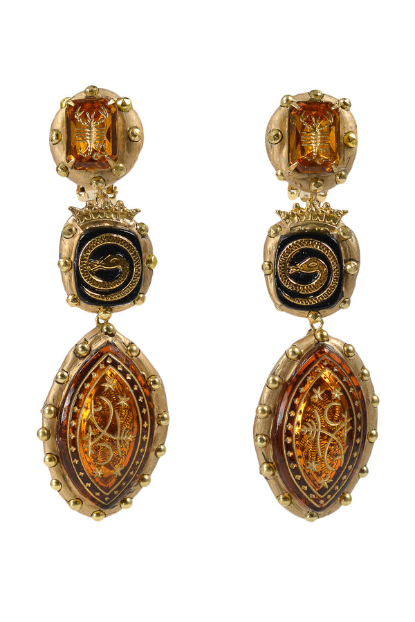 MINADEO SCORPIO & SNAKE TOPAZ EARRINGS