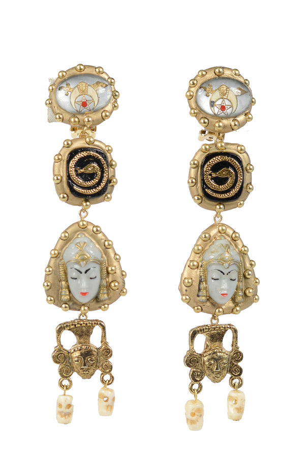 MINADEO SIAMESE PRINCESS & SNAKE EARRINGS