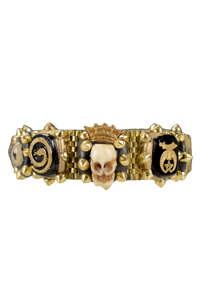 MINADEO SKULL & GLASS EYE SMALL BRACELET
