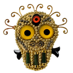 MINADEO THIRD EYE SKULL BROOCH