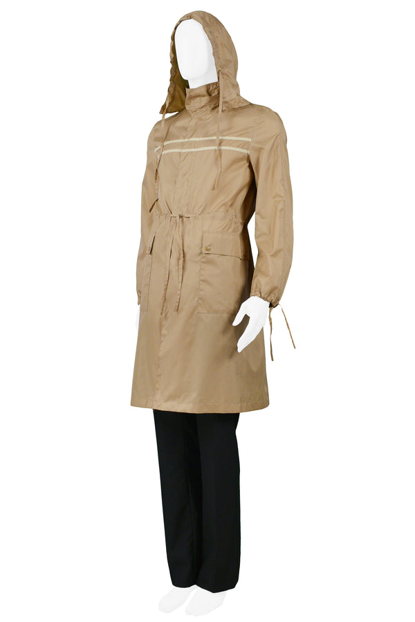 MIU MIU BROWN UTILITY RAINCOAT 2002