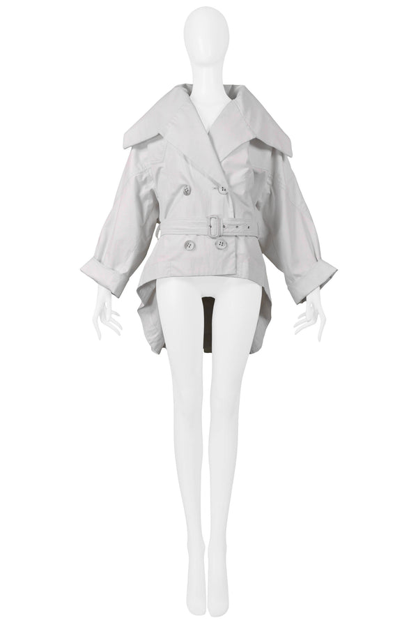 MIYAKE 1980S OFF WHITE PARIS TRENCH JACKET