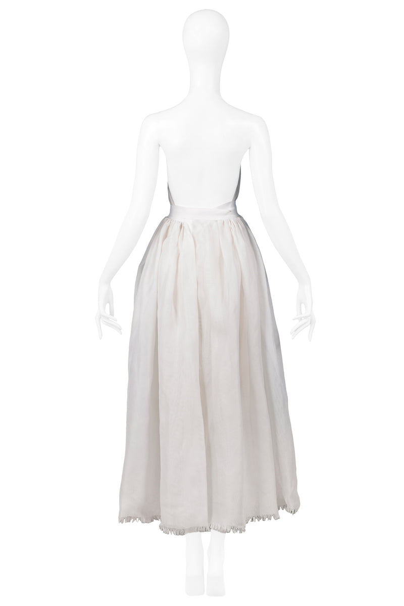 MIZRAHI OFF WHITE SILK GAZAR GOWN