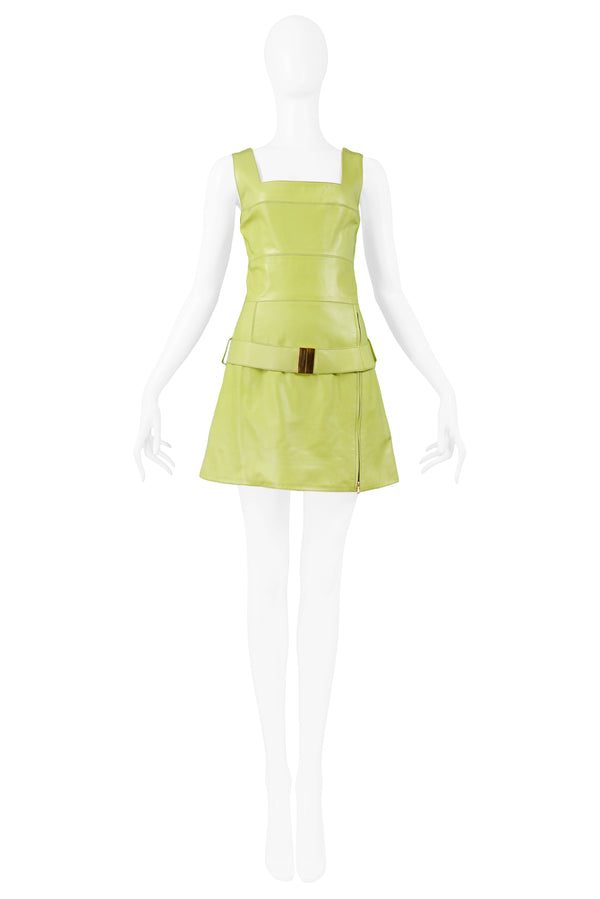 MONTANA CHARTREUSE GREEN LEATHER DRESS & BELT