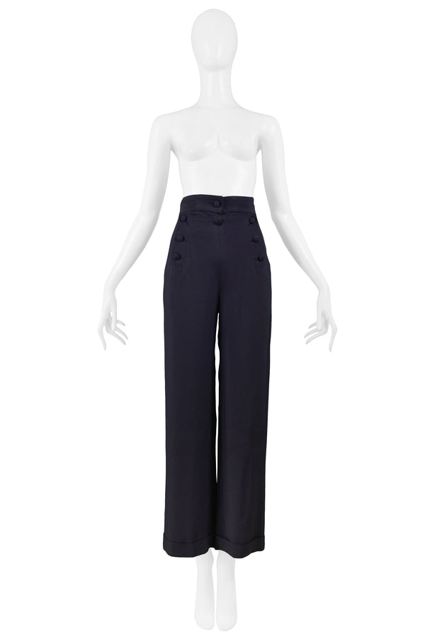 MOSCHINO NAVY SAILOR PANTS 1985