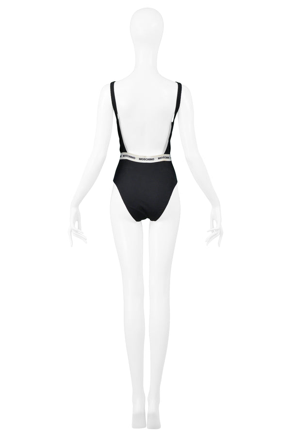 MOSCHINO BLACK UNDERWEAR INSPIRED SWIMSUIT