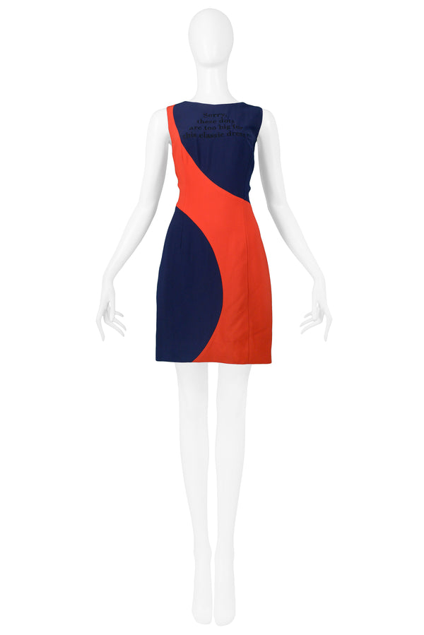 MOSCHINO COUTURE NAVY & RED BIG DOT DRESS