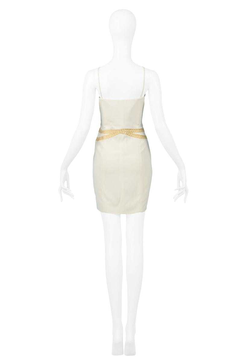 MOSCHINO ''CRUISE ME BABY'' IVORY JACKET & DRESS ENSEMBLE