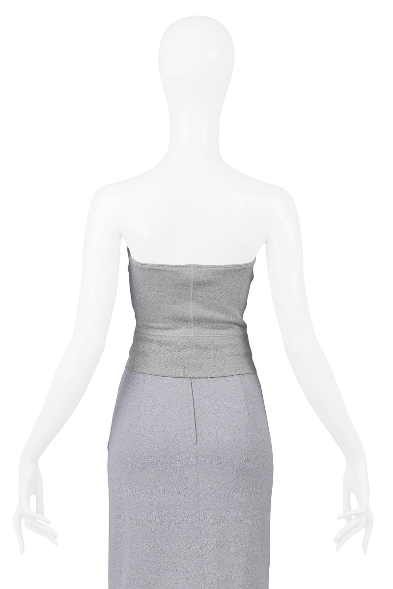 MOSCHINO GREY SWEATSHIRT BUSTIER