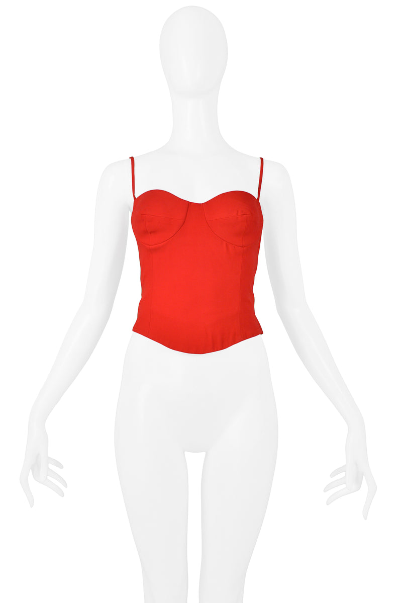 MOSCHINO RED BUSTIER TOP