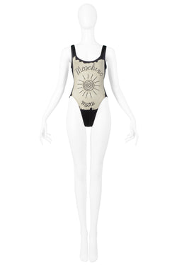 MOSCHINO SUN DRAWING SWIMSUIT