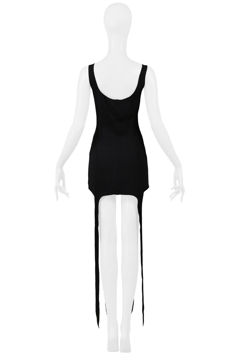 OZBEK BLACK GARTER TANK TOP