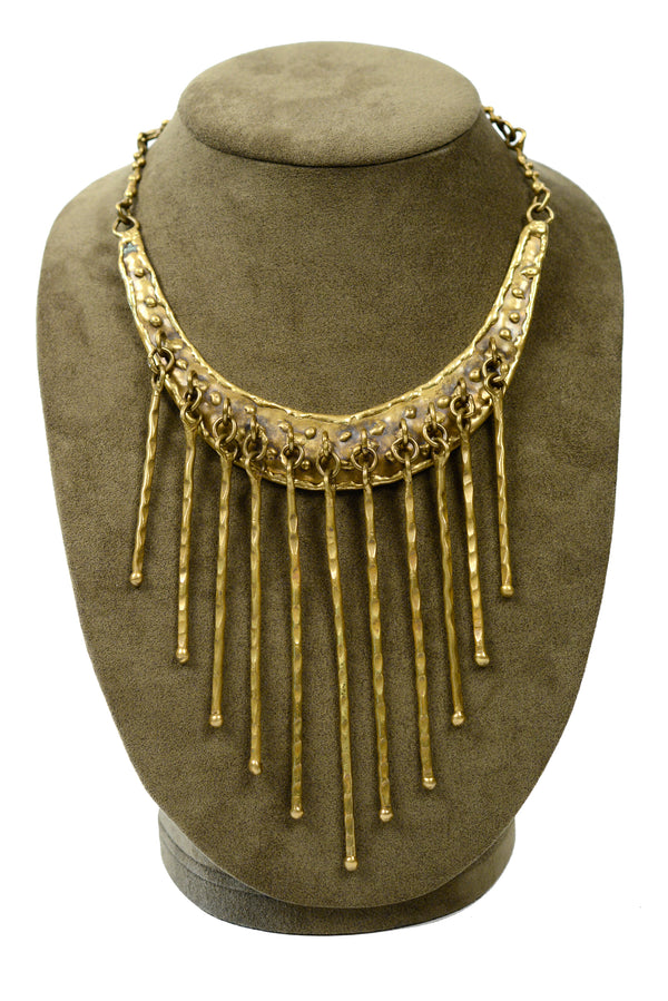 PAL KEPENYES BRONZE FRINGE COLLAR NECKLACE