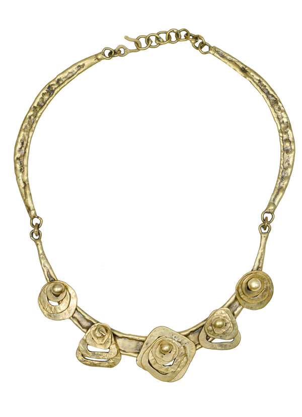 PAL KEPENYES BRONZE STACKED GEOMETRIC COLLAR