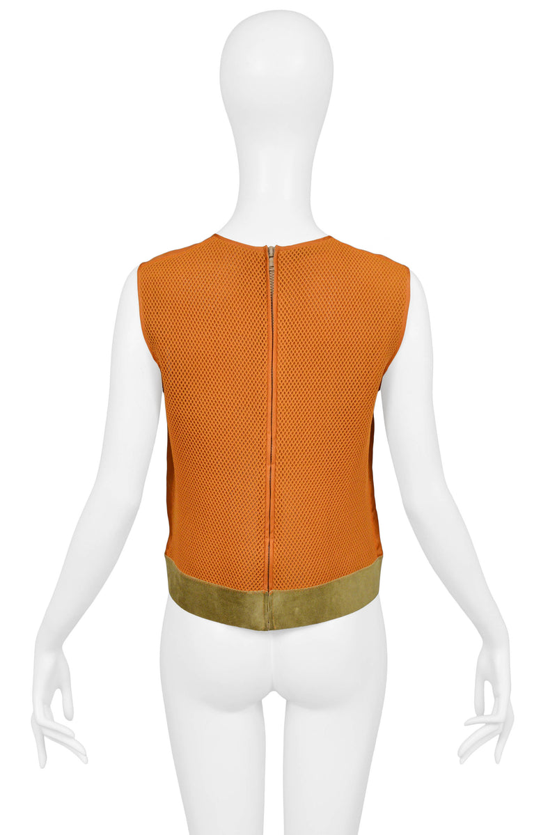 PRADA ORANGE SUEDE TOP 1999