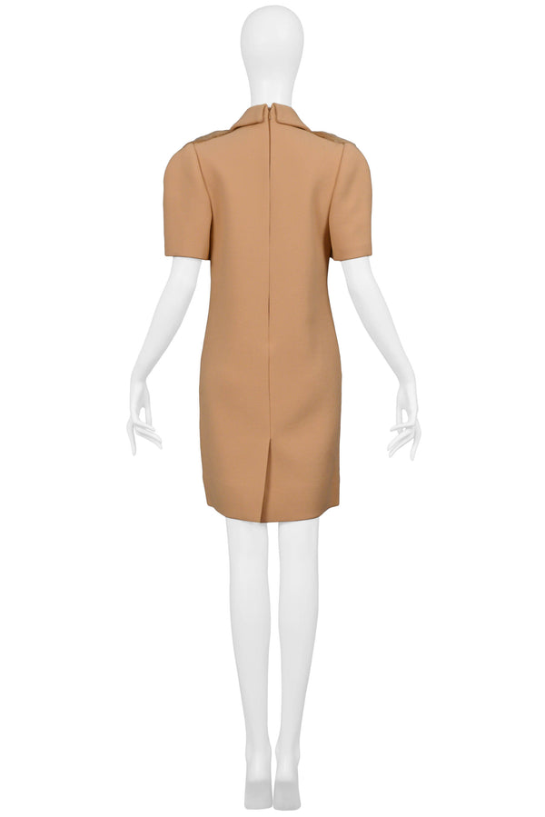 PRADA CAMEL FAUX FUR DRESS AW 2011