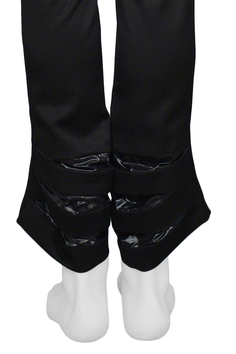 RAF SIMONS BLACK ACCORDION ALIEN PANTS 2007-08
