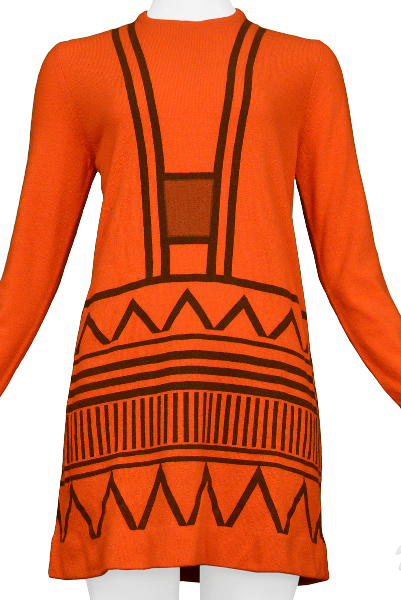 RDC RED MINI DRESS WITH ZIGZAG GRAPHIC
