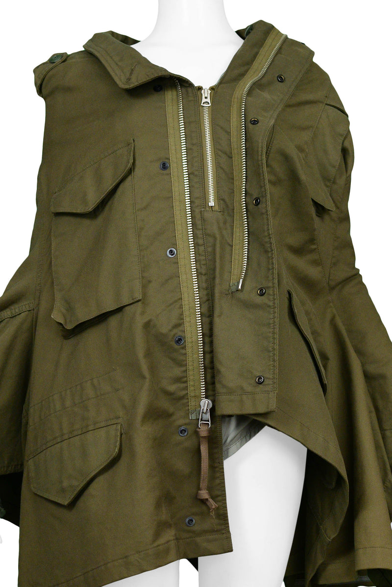 JUNYA DECONSTRUCTED MILITARY INSPIRED CAPE 2006