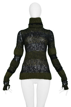 JUNYA GREEN, GOLD & BLACK STRIPE GLOVE SWEATER 2006