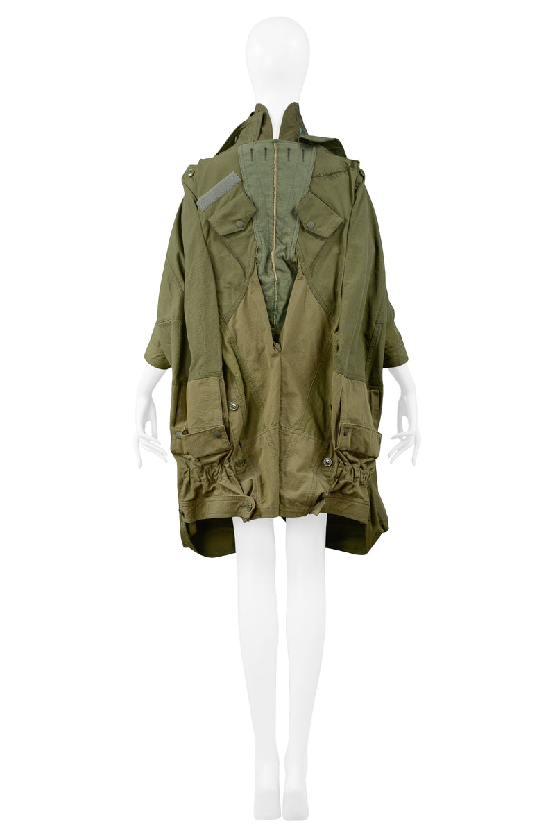 JUNYA DECONSTRUCTED ARMY GREEN PARKA COAT 2006