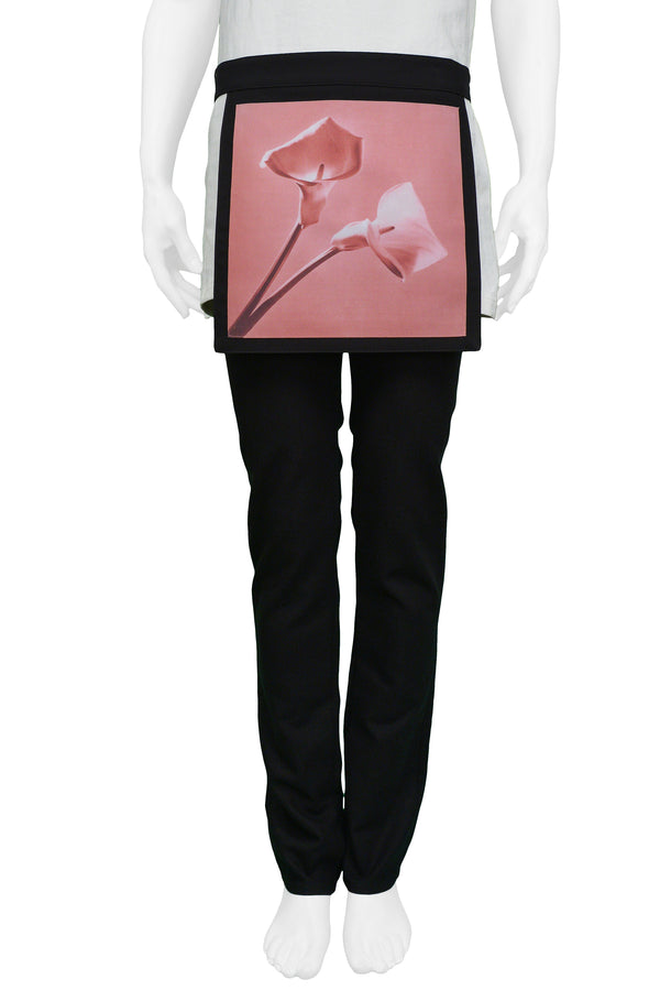 RAF SIMONS MAPPLETHORPE BONDAGE PANTS WITH PINK LILIES