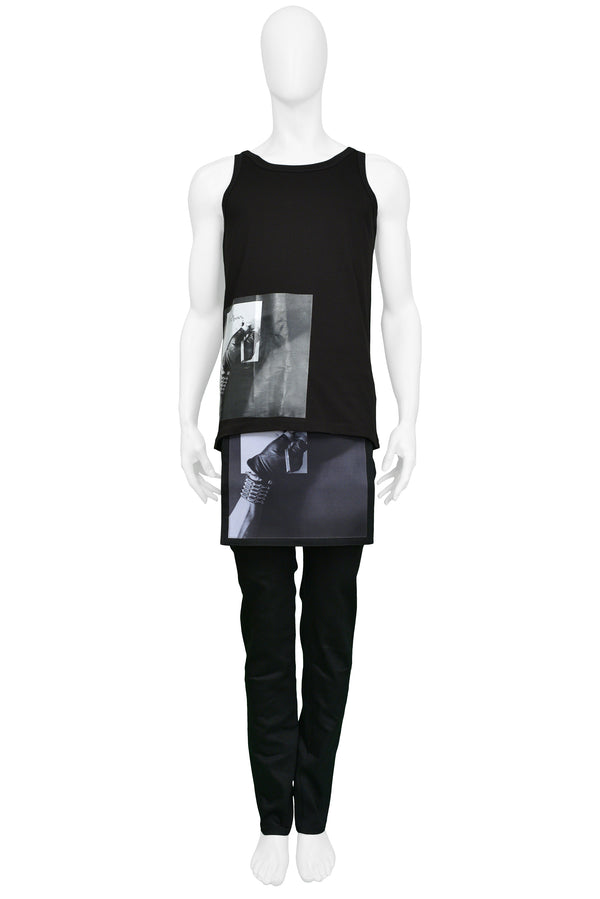 RAF SIMONS MAPPLETHORPE BLACK PHOTO TANK 2017
