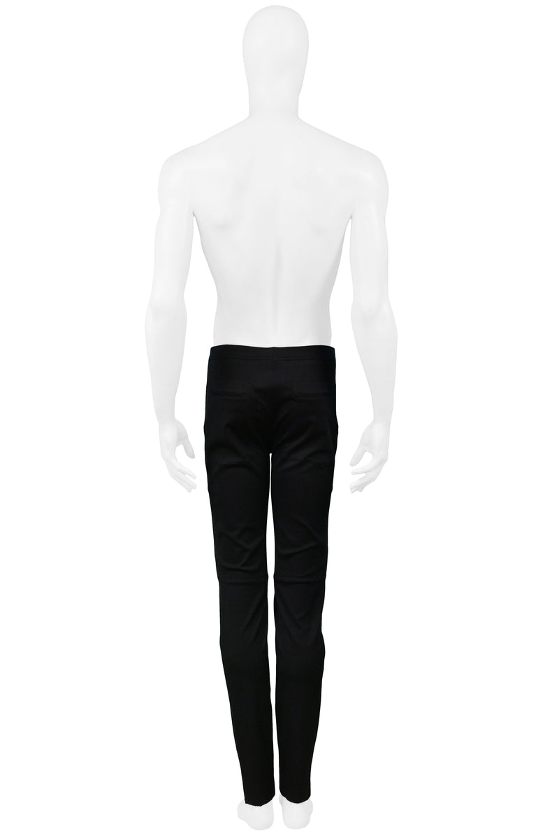 SPROUSE BLACK PANTS WITH SILVER PANELS 1993