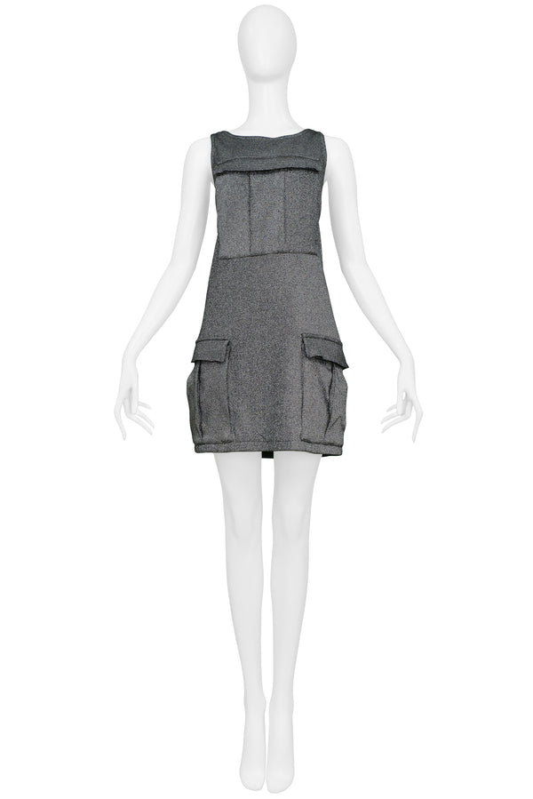 SPROUSE SILVER LARGE POCKET CARGO DRESS