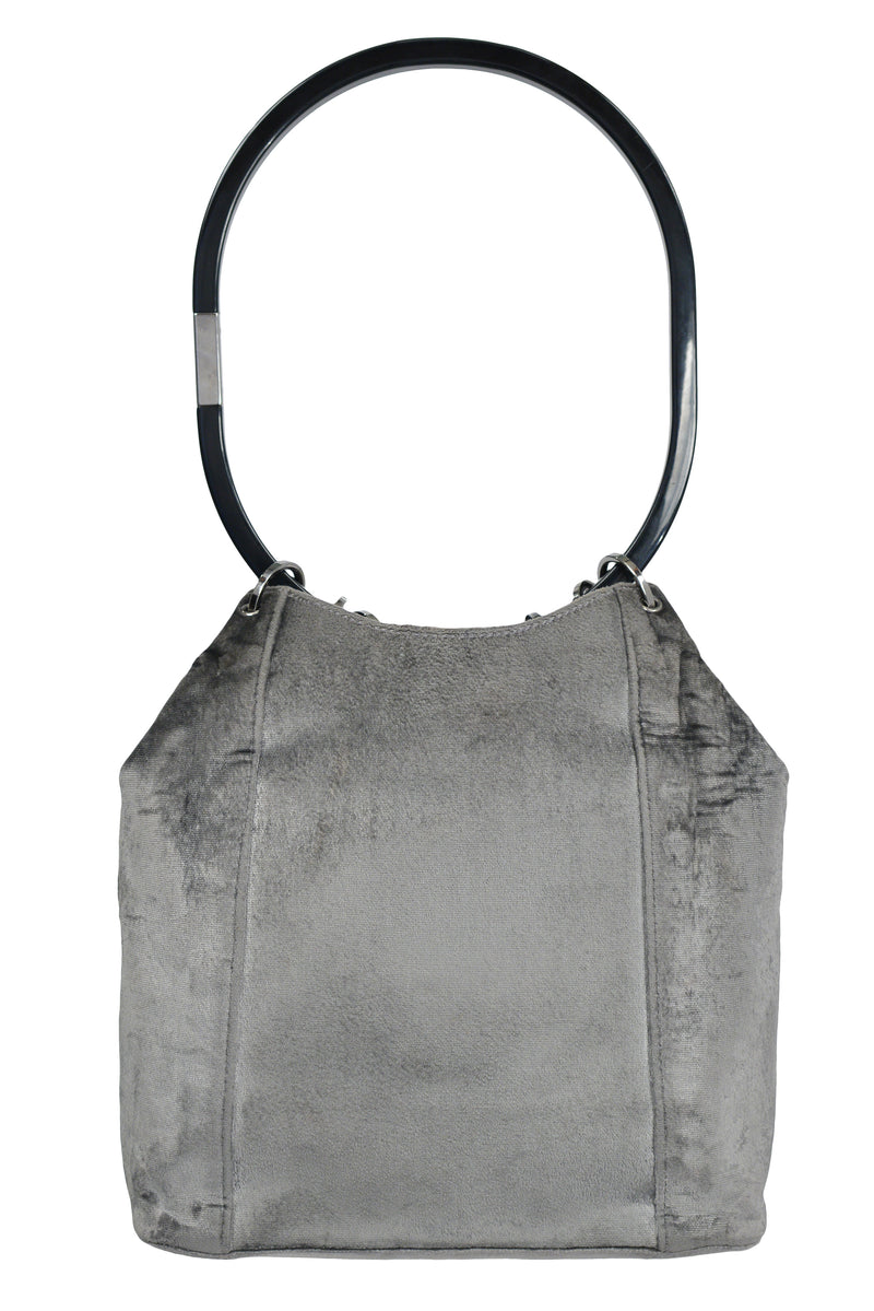 GUCCI BY TOM FORD GREY VELVET BUCKET BAG 1999