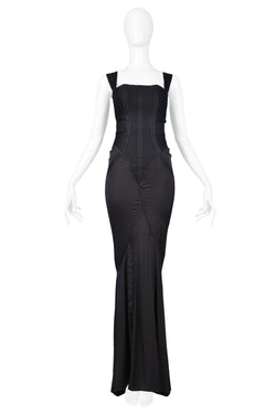 GUCCI BY TOM FORD BLACK CORSET GOWN 2003