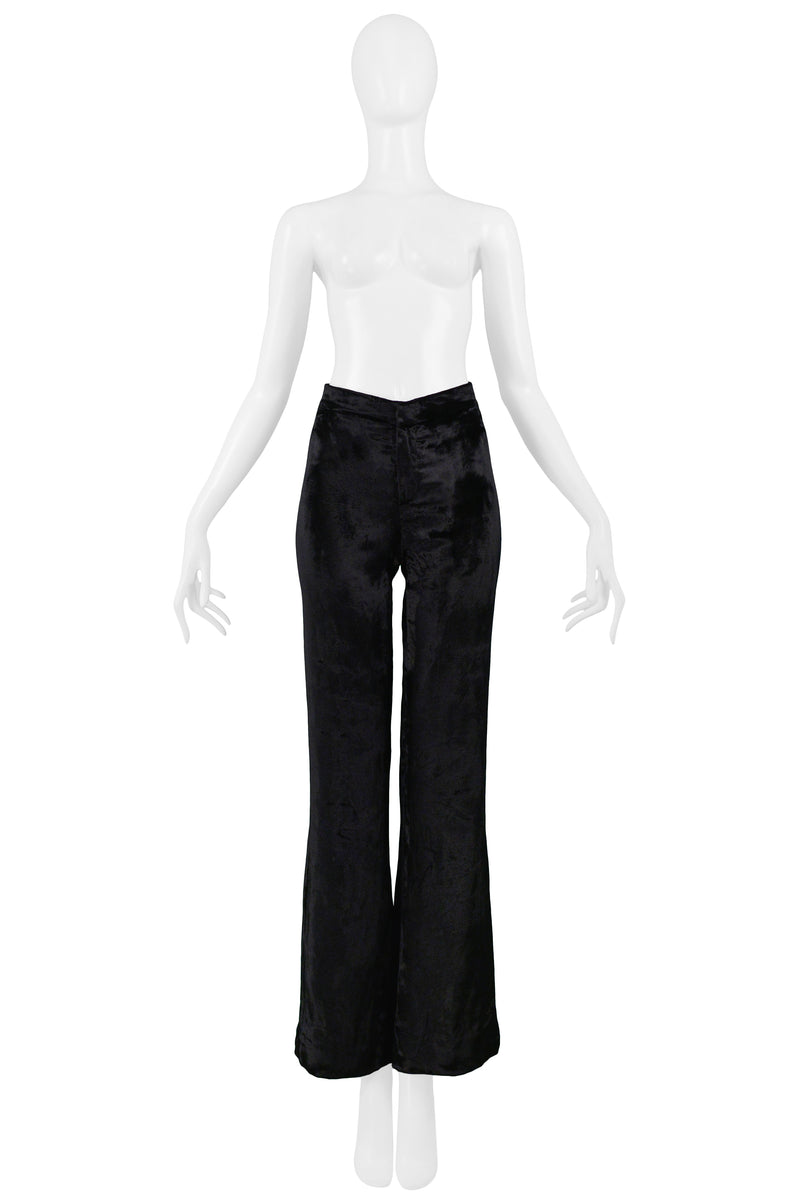GUCCI BY TOM FORD BLACK VELVET FLARE PANTS