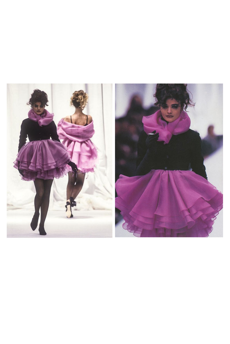 COMPLICE BY DOLCE & GABBANA VELVET AND ORGANZA DRESS 1991
